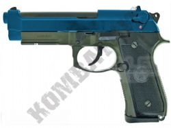 KJW M9A1 Beretta Replica Full Metal Gas Blowback Airsoft BB Gun 2 Tone Blue OD Green